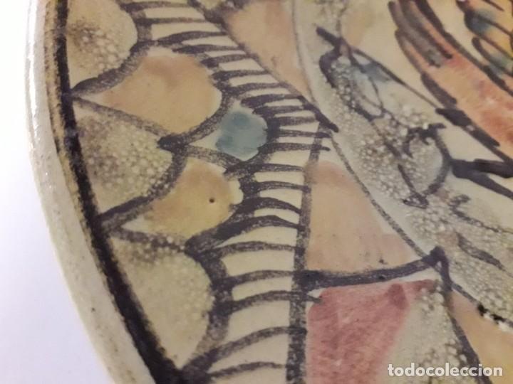 Antigüedades: Plato de cerámica de Talavera - Foto 3 - 144931230