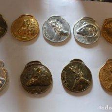 Antigüedades: LOTE 9 MEDALLAS TROFEOS DE CAZA AÑOS 70. MUY BUEN ESTADO. Lote 144937806