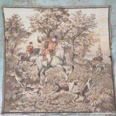 Antigüedades: ANTIGUO TAPIZ ESCENA DE CAZA INGLESA. Lote 144958182