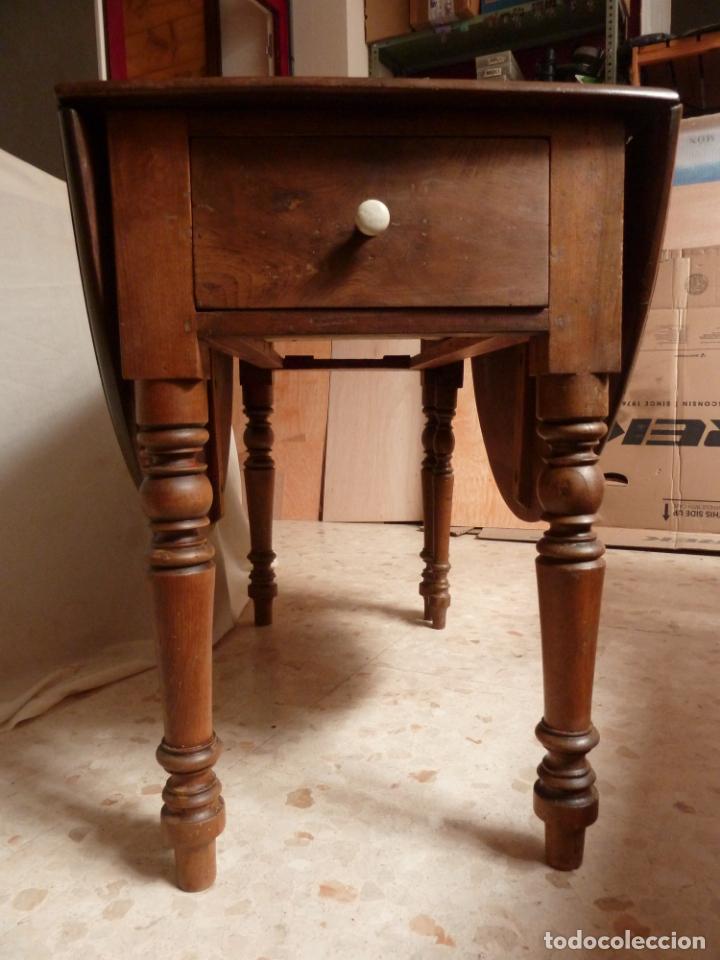 Antigüedades: NOBLE MESA CATALANA OVALADA CON ALAS - NOGAL MACIZO - PPIOS DEL S.XX - Foto 6 - 144969774