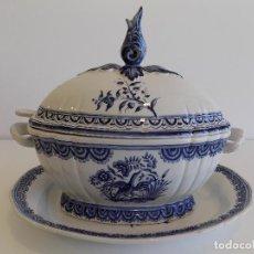 Antigüedades: SOPERA CON BANDEJA. REAL CERAMICA SEC XVII-PORTUGAL. OPORTUNIDAD!!. Lote 144984126