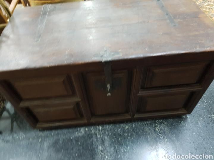 Antigüedades: Arcón baúl de madera años 30 vintage - Foto 2 - 135346641