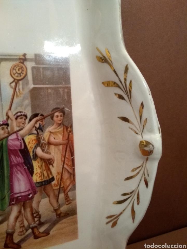 Antigüedades: Bandeja Cartuja Decoración Escena Clásica y Dorados - Foto 7 - 144993004