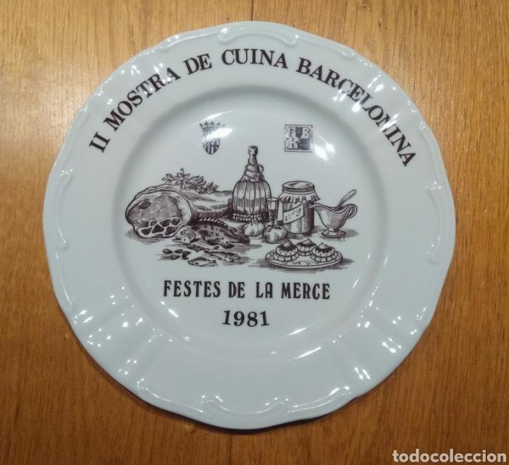 PLATO PORCELANA 1981, FIRMADO GRIFÉ. (Antigüedades - Porcelanas y Cerámicas - Otras)