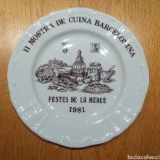 Antigüedades: PLATO PORCELANA 1981, FIRMADO GRIFÉ.. Lote 145000620