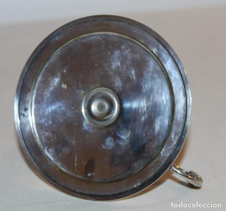 Antigüedades: PALMATORIA PORTAVELAS EN PLATA PUZONADA .900 - PRINCIPIOS DEL SIGLO XX - Foto 8 - 145019430