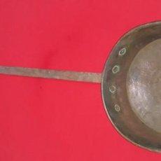 Antigüedades: ANTIGUA SARTÉN DE COBRE SIGLO XIX. Lote 145053746