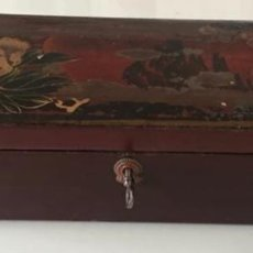 Antigüedades: CAJA FRANCESA DE MADERA LACADA. Lote 145069778