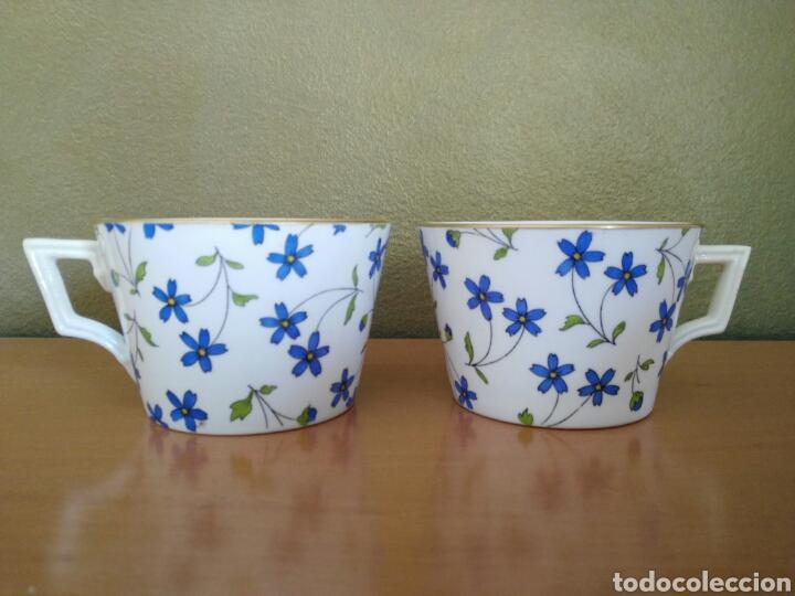 DOS TAZAS MINTON (Antigüedades - Porcelanas y Cerámicas - Inglesa, Bristol y Otros)