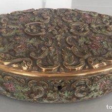 Antigüedades: CAJA ANTIGUA PORTUGUESA DE BRONCE. Lote 145075126