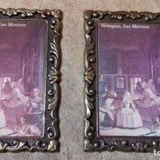 Antigüedades: ANTIGUA PAREJA DE MARCOS PEQUEÑOS DE BRONCE 88X 62MM. 138GRS. LOS DOS. IDEALES MINIATURA O FOTO PEQ. Lote 145103166