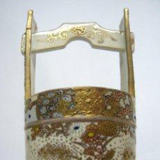 Antigüedades: 19TH BELLA PORCELANA JAPON MEIJI SATSUMA - MARKS. Lote 145105042