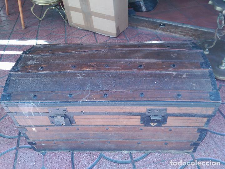 Antigüedades: ANTIGUO BAUL DE AJUAR SIGLO XIX RARO CONSERVA PATAS AUXILIARES PARA ELEVARLO DEL SUELO 430,00 € - Foto 5 - 145133434