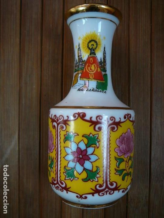 Antigüedades: Jarrita recuerdo de Zaragoza Virgen del Pilar - Foto 7 - 137892858