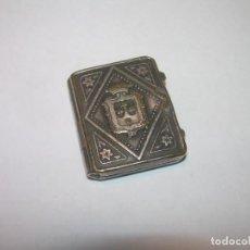 Antigüedades: ANTIGUO ESTUCHE PORTA RELIQUIAS DE PLATA.. Lote 145158334