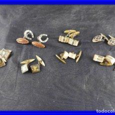 Antigüedades: GEMELOS SIETE PARES ANTIGUOS. Lote 145175254