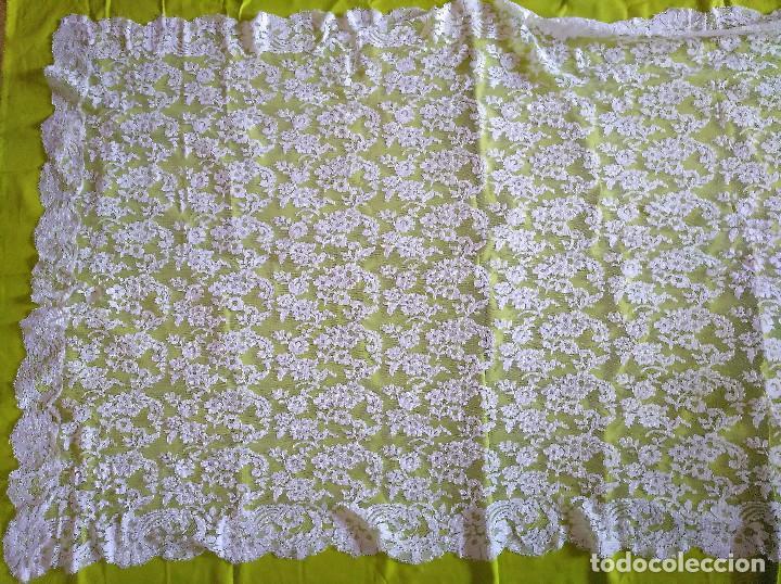 Antigüedades: Mantilla blanca - Foto 4 - 145176590