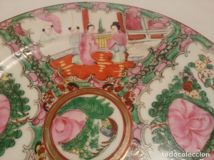 Antigüedades: Bonito plato de porcelana china de MACAO. - Foto 2 - 145177514