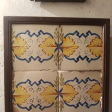 Antigüedades: CUADRO AZULEJOS VALENCIANOS SXVIII/XIX. Lote 145191760