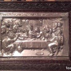 Antigüedades: ÚLTIMA CENA / METAL REPUJAFO. Lote 145201502