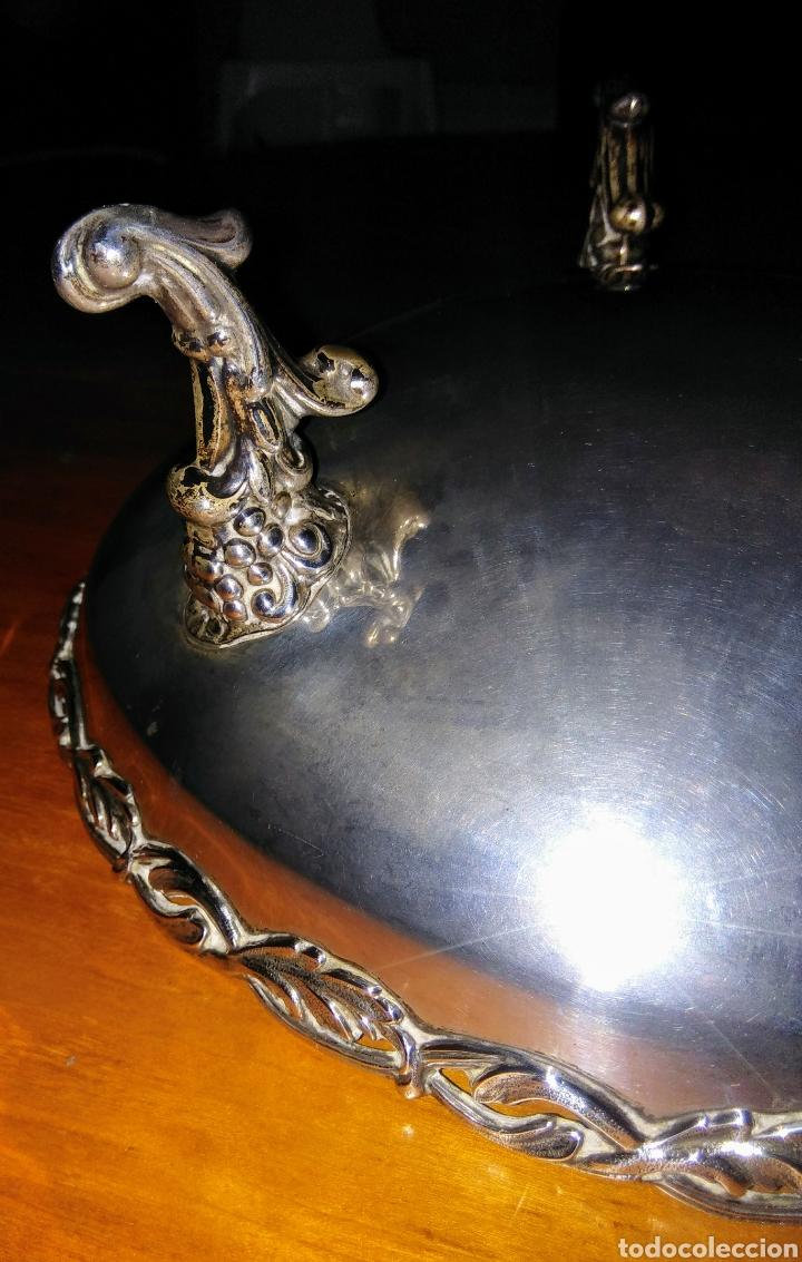 Antigüedades: Centro mesa de plata, de 1970, Bagués. - Foto 4 - 145201896