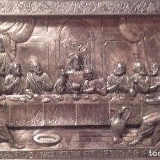 Antigüedades: LA ÚLTIMA CENA / METAL REPUJADO. Lote 145202042