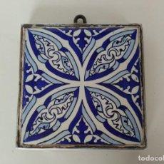 Antigüedades: AZULEJO ENMARCADO MANISES. Lote 145206786