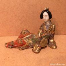 Antigüedades: GEISHA DE PORCELANA JAPONESA DE SAT-SUMA. Lote 145216982