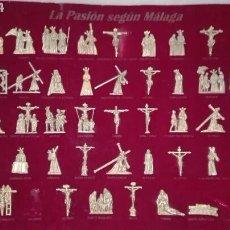 Antigüedades: LA PASION DE MÁLAGA, 42 FIGURAS, IMÁGENES QUE PROCESIONAN EN LA SEMANA SANTA DE MÁLAGA. Lote 145252556