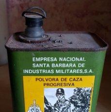 Antigüedades: LATA DE INDUSTRIAS MILITARES S.A.-SANTA BARBARA-POLVORA PROGRESIVA LLENA-ENVIO 8 €. Lote 145261574
