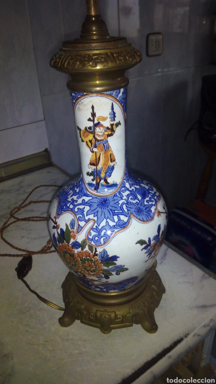 Antigüedades: Antigua lampara Grande 73 cm ver fotos y descripción - Foto 2 - 145275513