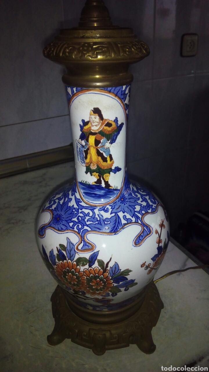 Antigüedades: Antigua lampara Grande 73 cm ver fotos y descripción - Foto 6 - 145275513