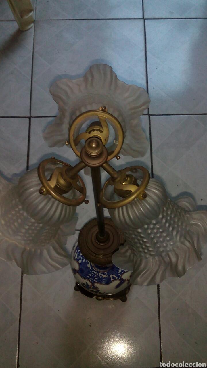Antigüedades: Antigua lampara Grande 73 cm ver fotos y descripción - Foto 13 - 145275513