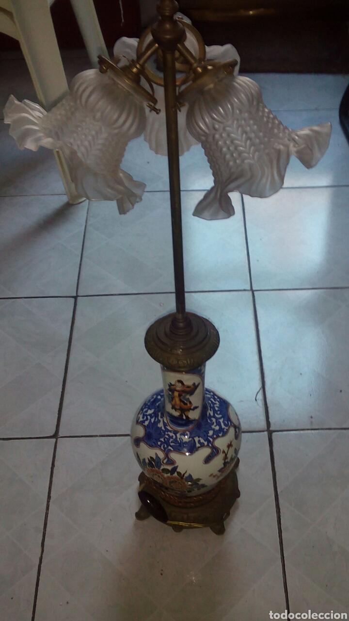 Antigüedades: Antigua lampara Grande 73 cm ver fotos y descripción - Foto 14 - 145275513