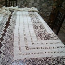Antigüedades: * ANTIGUAS CORTINAS BORDADAS AMANO.3,50MX 3,35M..VELO DE NOVIA. RF:530/CG. Lote 145277298