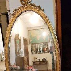 Antigüedades: ENORME ESPEJO DE MADERA Y ORO. Lote 145281066
