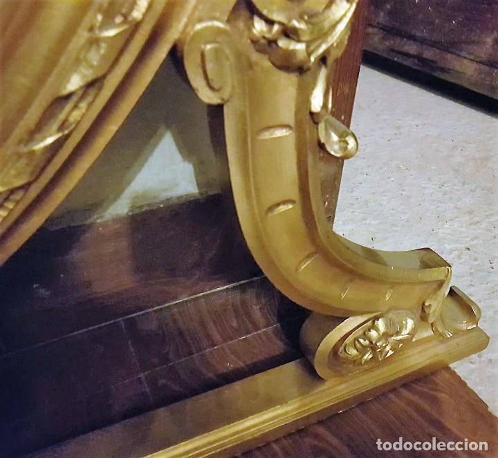 Antigüedades: Enorme espejo de madera y oro - Foto 5 - 145281066