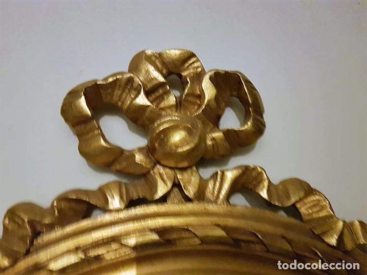 Antigüedades: Enorme espejo de madera y oro - Foto 7 - 145281066