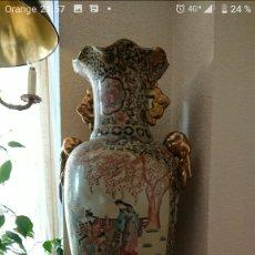 Antigüedades: GRAN JARRÓN CHINO SATSUMA CERTIFICADO EDICIÓN LIMITADA. Lote 142925186