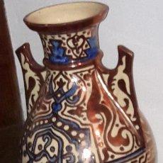 Antigüedades: JARRÓN REFLEJO METÁLICO MANISES ( VALENCIA ) CON CALIGRAFÍA ÁRBE. Lote 145301162