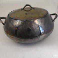 Antigüedades: SOPERA LEGUMBRERA EN ALPACA PLATEADA. Lote 145302598