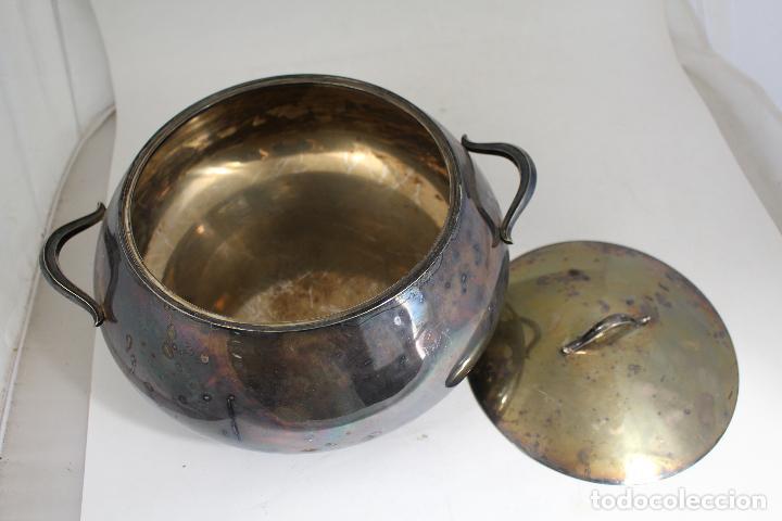 Antigüedades: sopera legumbrera en alpaca plateada - Foto 3 - 145302598