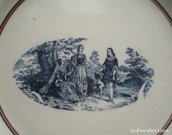 Antigüedades: FUENTE DE LOZA. ESCENA PRINCIPESCA. SAN JUAN DE AZNALFARACHE. SEVILLA. PRINCIPIOS DEL SIGLO XX. - Foto 2 - 145316046