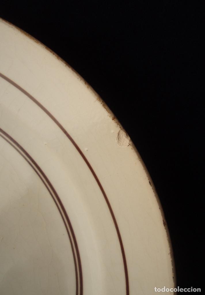 Antigüedades: FUENTE DE LOZA. ESCENA PRINCIPESCA. SAN JUAN DE AZNALFARACHE. SEVILLA. PRINCIPIOS DEL SIGLO XX. - Foto 8 - 145316046