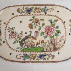 Antigüedades: BANDEJA PORCELANA SALVA MANTEL COPELAND GARRETT.. Lote 145332937