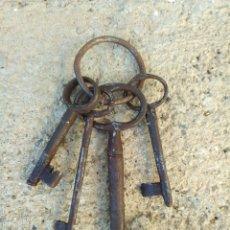 Antigüedades: MANOJO DE LLAVES DE IGLESIA. Lote 145340233