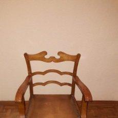 Antigüedades: SILLÓN DE MADERA. Lote 145391046