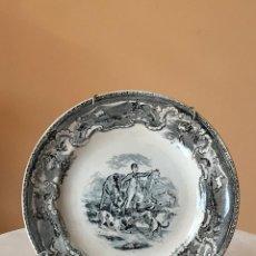 Antigüedades: PLATO LLANO DE LOZA. LA CARTAGENERA. CARTAGENA. S. XIX.. Lote 145400158