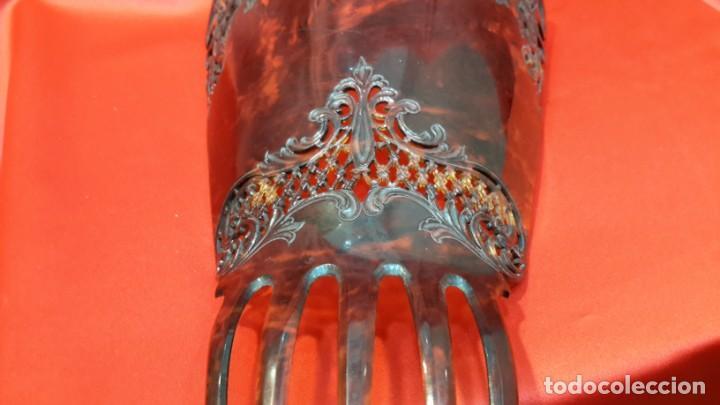Antigüedades: ANTIGUA PEINETA. ESTILO MODERNISTA. GRAN TAMAÑO - Foto 11 - 145406898