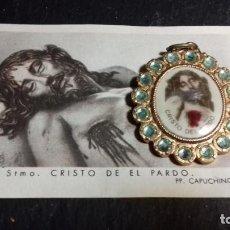 Antiguidades: ESTAMPA Y MEDALLA STMO. CRISTO DEL PARDO PP. CAPUCHINOS.. Lote 145411566